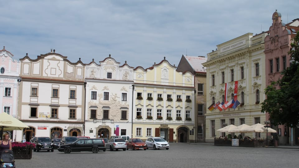 Pernštýnské náměstí,  uprostřed dům U Jonáše,  foto: Kristýna Maková