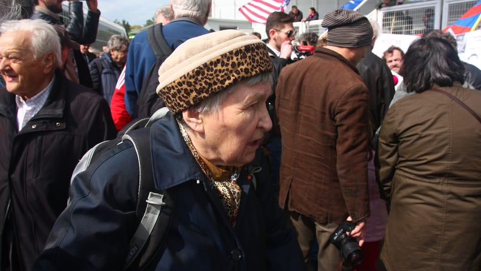 Oslavy 1. máje na pražském výstavišti patří komunistům,  přišli i jejich odpůrci,  foto: Štěpánka Budková
