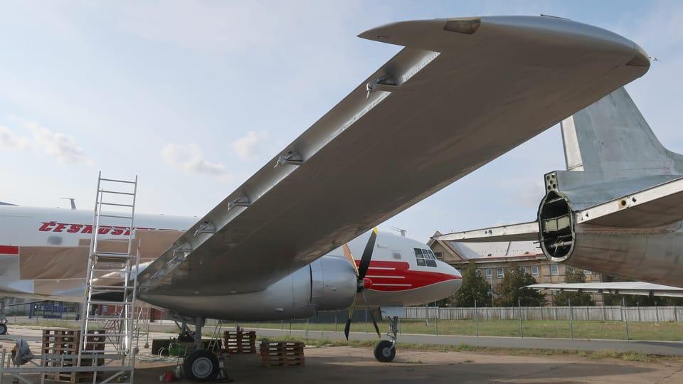 Sovětský víceúčelový letoun Iljušin Il-14,   (v Československu vyráběn jako Avia 14),  foto: Štepánka Budková