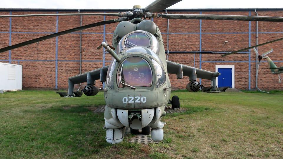 Sovětský bitevní vrtulník Mil Mi-24 Hind,  foto: Štěpánka Budková