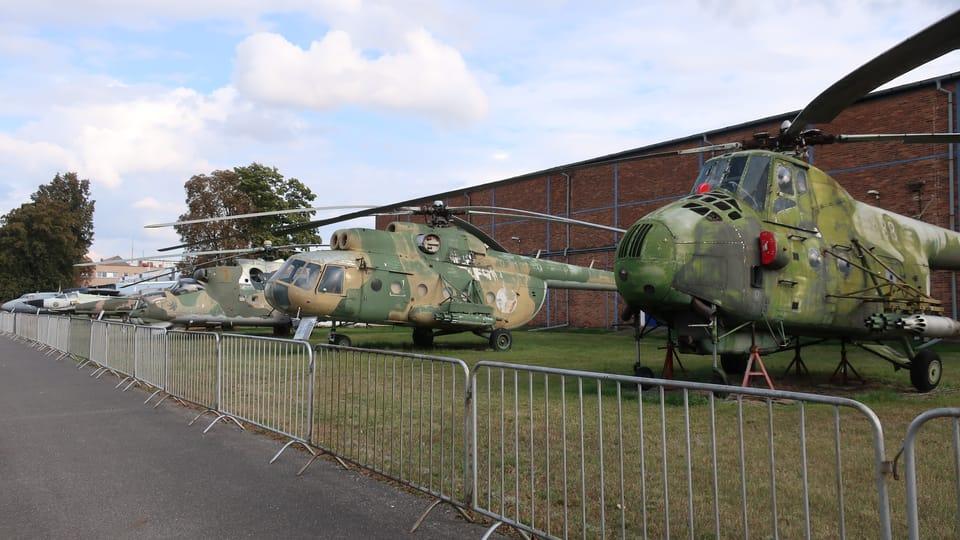 Venkovní expozice vrtulníků,  foto: Štěpánka Budková