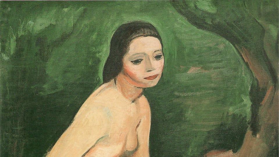 Georges Kars,  'Sedící akt',  1926,  zdroj: Jiří Siblík/Galerie Karlovy Vary