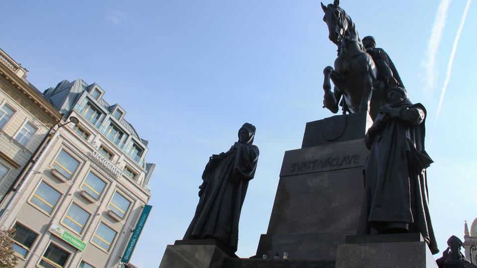 Pomník sv. Václava na Václavském náměstí od Josefa Václava Myslbeka,  foto: Barbora Němcová