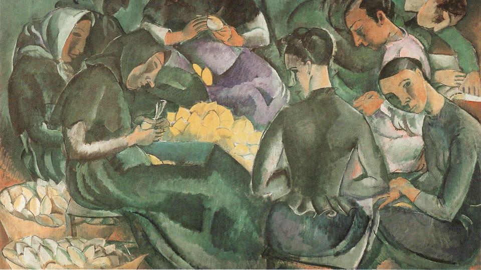 Georges Kars,  'Balení citronů na Mallorce',  1912,  zdroj: Jiří Siblík/Národní galerie v Praze