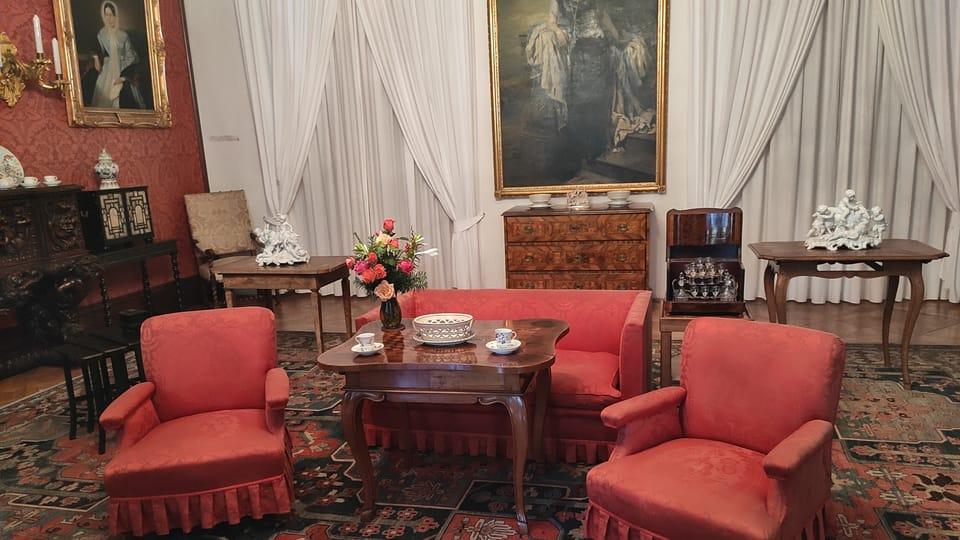 Červený salon,  foto: Klára Stejskalová