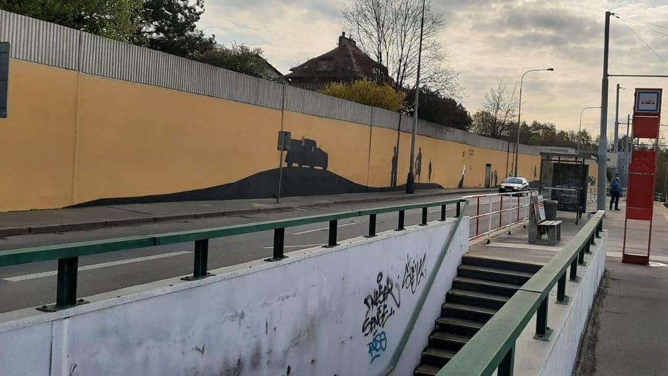 Mural 'Operace Anthropoid' | Foto: Lenka Žižková,  Radio Prague International