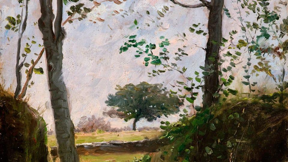 Václav Brožík: Kraj lesa,  zdroj: Wikimedia Commons,  CC0