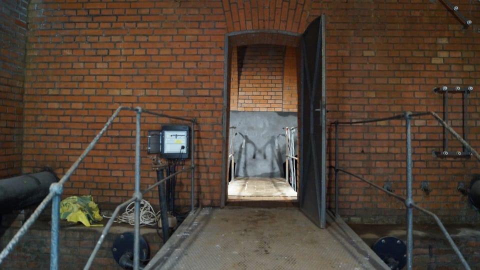 Nadzemní patro dvoukomorového vodojemu   Foto: Miloš Turek,  Radio Prague International