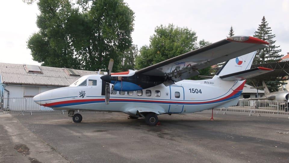 Československý dopravní a transportní letoun Let L-410 Turbolet,  foto: Štěpánka Budková