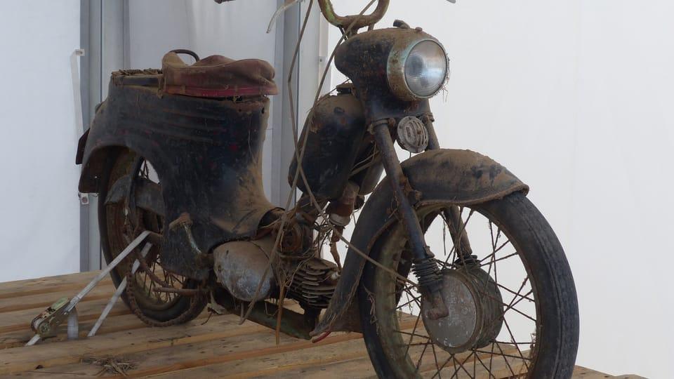 První motocykl Radka Uhlíře   Foto: Petr Lukeš,  Radio Prague International