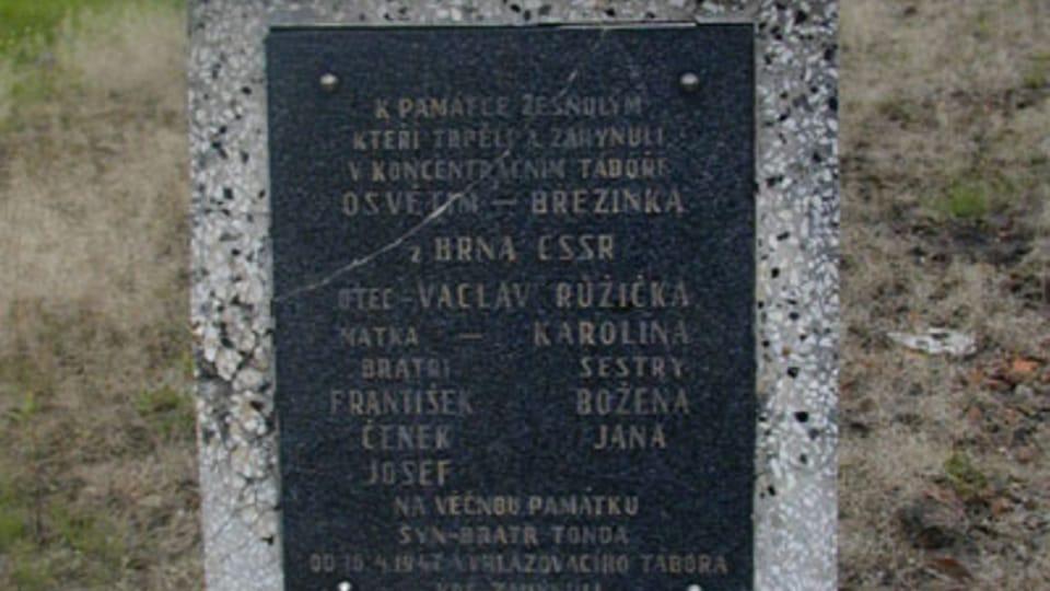 Pomník příslušníků romské rodiny Růžičkovy v Osvětimi,  foto: Jana Šustová