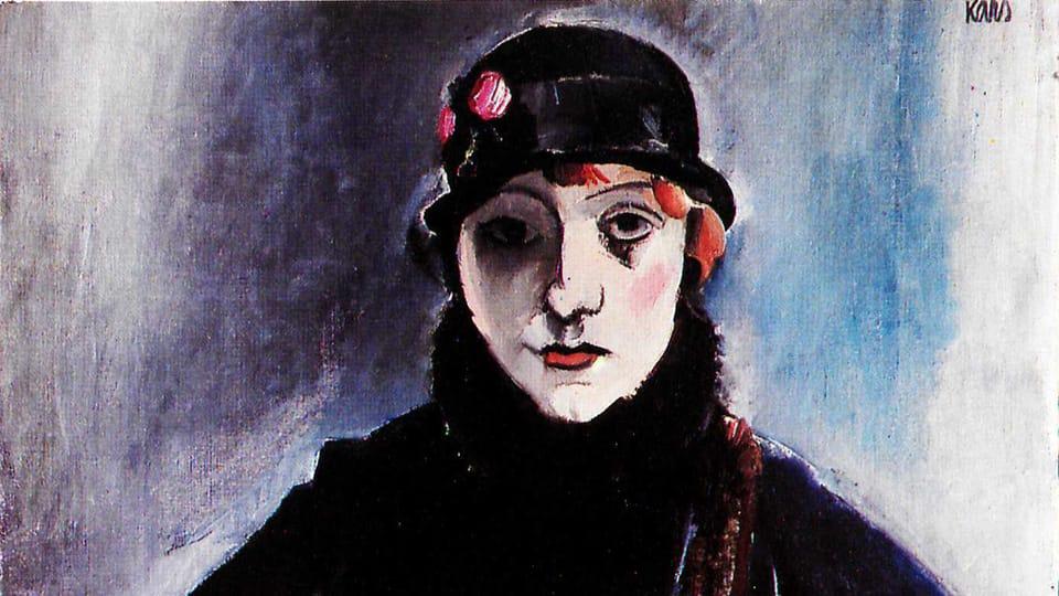 Georges Kars,  'Mladá dívka s růží',  1920,  zdroj: Muzeum Petit Palais