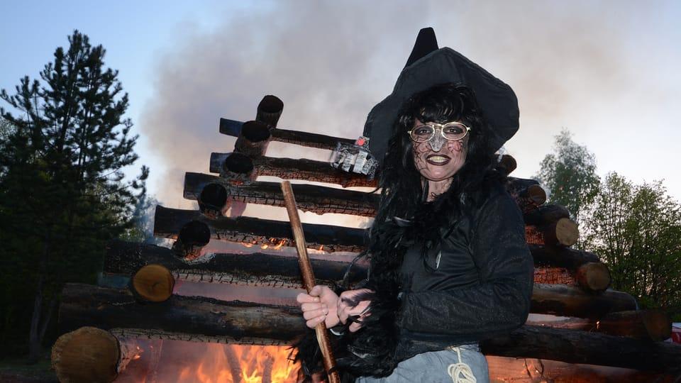 Pálení čarodějnic a opékání buřtů vLiběchově ve Středočeském kraji,  foto: Eva Turečková