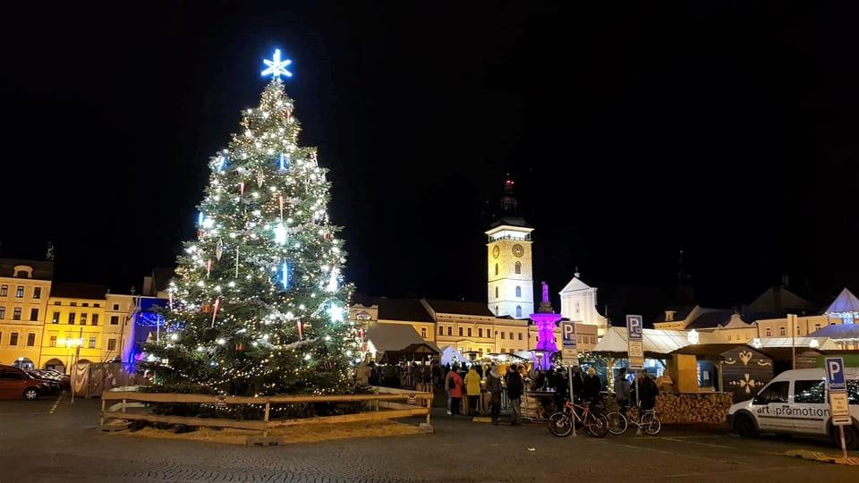 Vánoční strom v Českých Budějovicích,  foto: Andrea Poláková