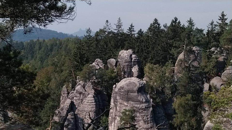 Prachovské skály - vyhlídka Míru,  foto: Dominika Bernáthová
