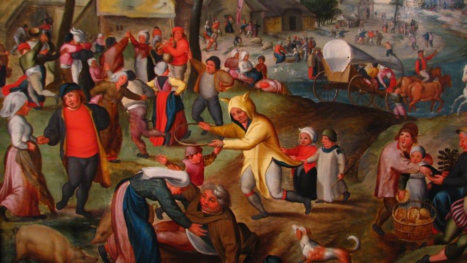 Maerten van Cleve,  Posvícení na sv. Jiří
