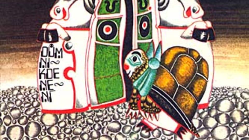 Ilustrace z knihy 'Děvčátko Momo a ukradený čas'