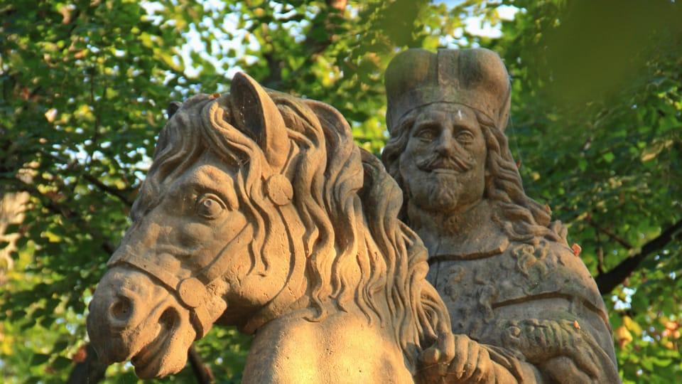 Světec nese tvář habsburského císaře Ferdinanda III.,  jehož podobou se Bendl inspiroval,  foto: Barbora Němcová