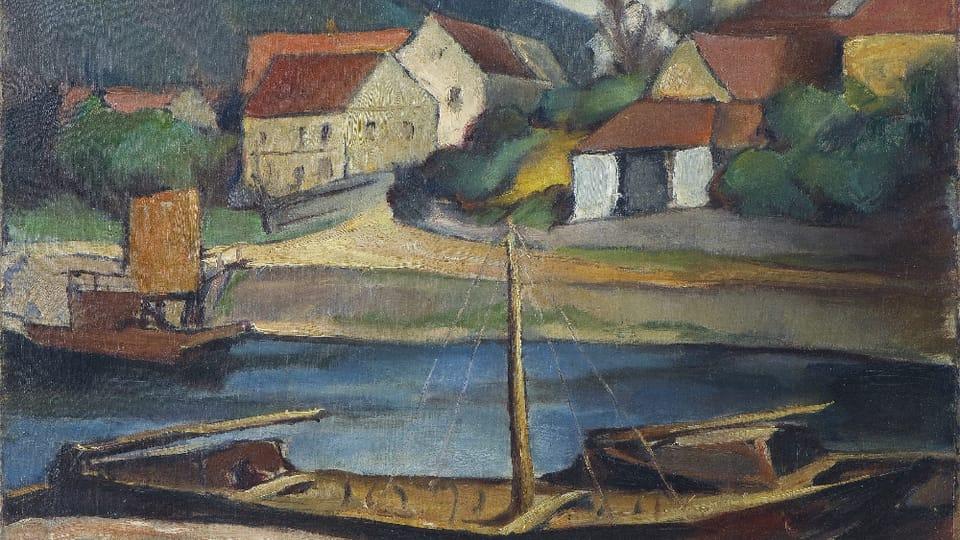 Georges Kars,  'Přívoz v Troji',  zdroj: Galerie hlavního města Prahy