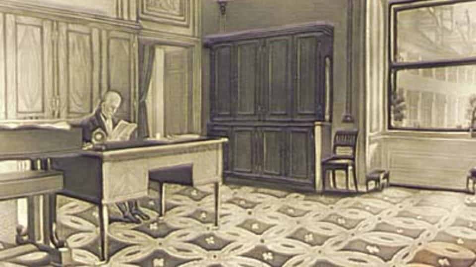 František Josef I. ve své pracovně