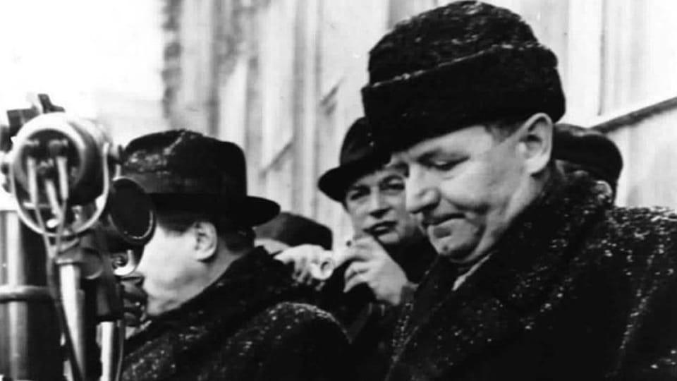 Klement Gottwald při projevu v roce 1948,  foto: Archivní a programové fondy Českého rozhlasu