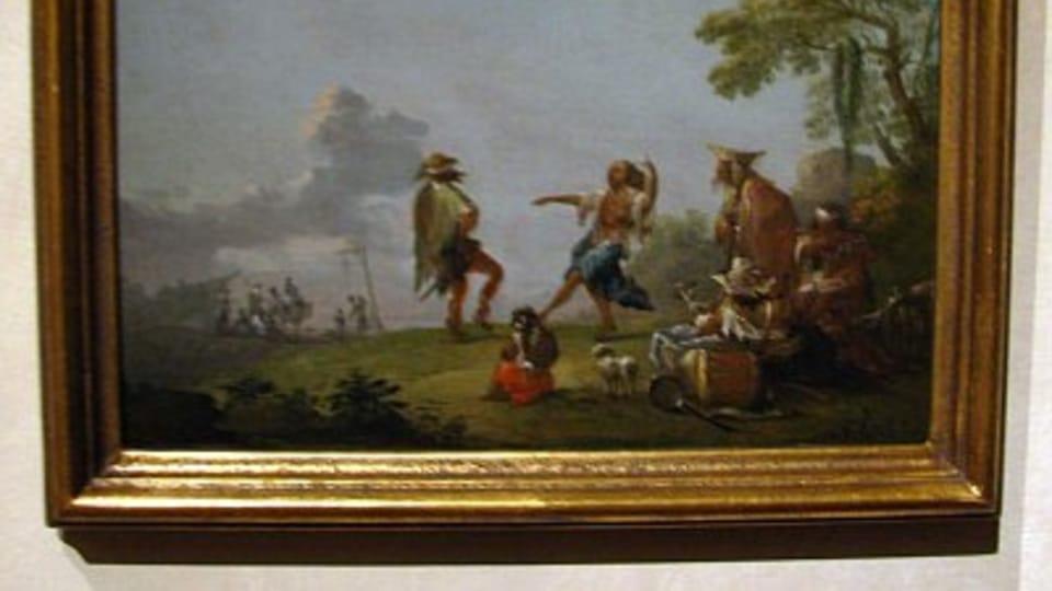 Norbert Grund,  Cikánský tábor s tančícím párem
