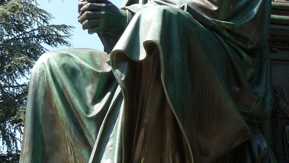 Husova socha u Lutherova pomníku v německém Wormsu,  foto: Immanuel Giel,  Wikimedia Commons,  Public Domain