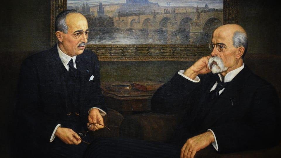 Beneš a Masaryk,  foto: Ondřej Tomšů