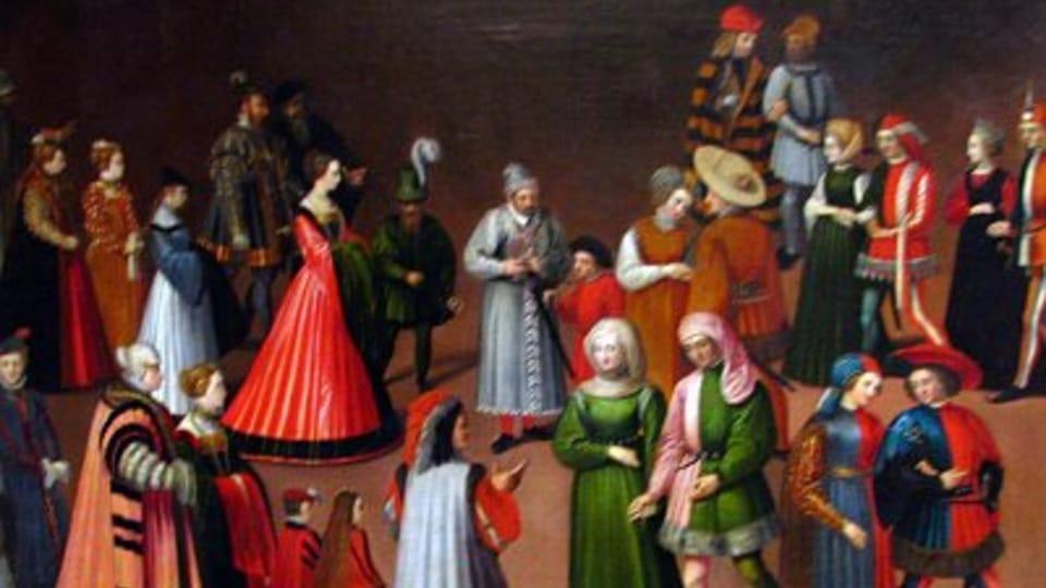 Kostýmní průvod,  kolem roku 1600