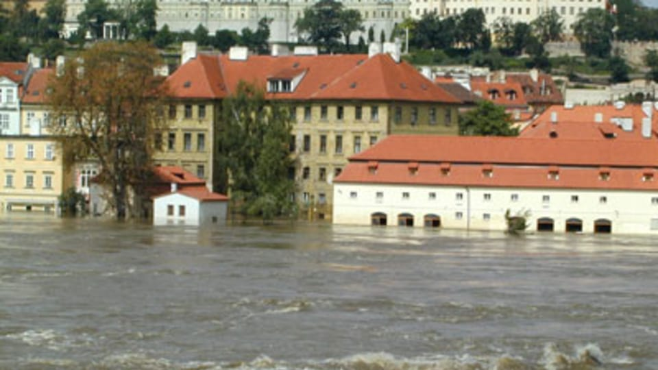 Malá Strana,  Praha,  srpen 2002