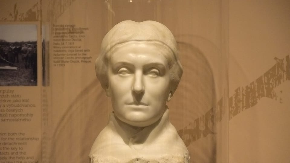 Busta Charlotty Masarykové,  foto: Ondřej Tomšů