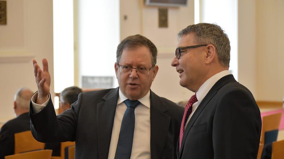 David Meron a Lubomír Zaorálek,  foto: Ondřej Tomšů