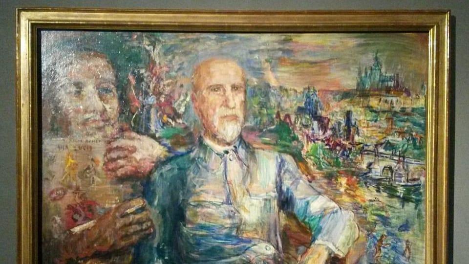 Oskar Kokoschka: T.G. Masaryk,  foto: Miroslav Krupička / Český rozhlas - Radio Praha