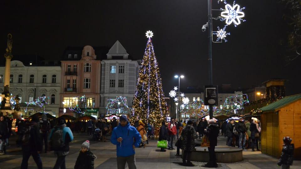 Vánoční strom v Ostravě,  foto: František Tichý