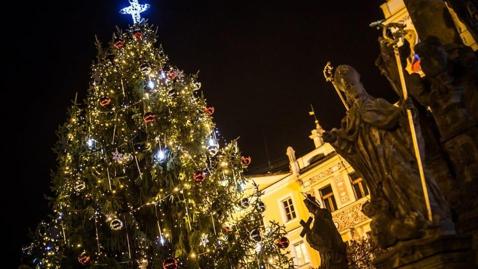 Vánoční strom v Pardubicích,  foto: Jan Ptáček