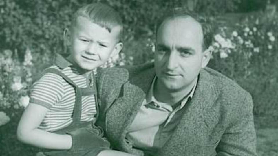 Ota Pavel se synem Petrem