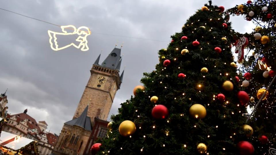 Vánoční strom v Praze na Staroměstském náměstí,  foto: Ondřej Tomšů
