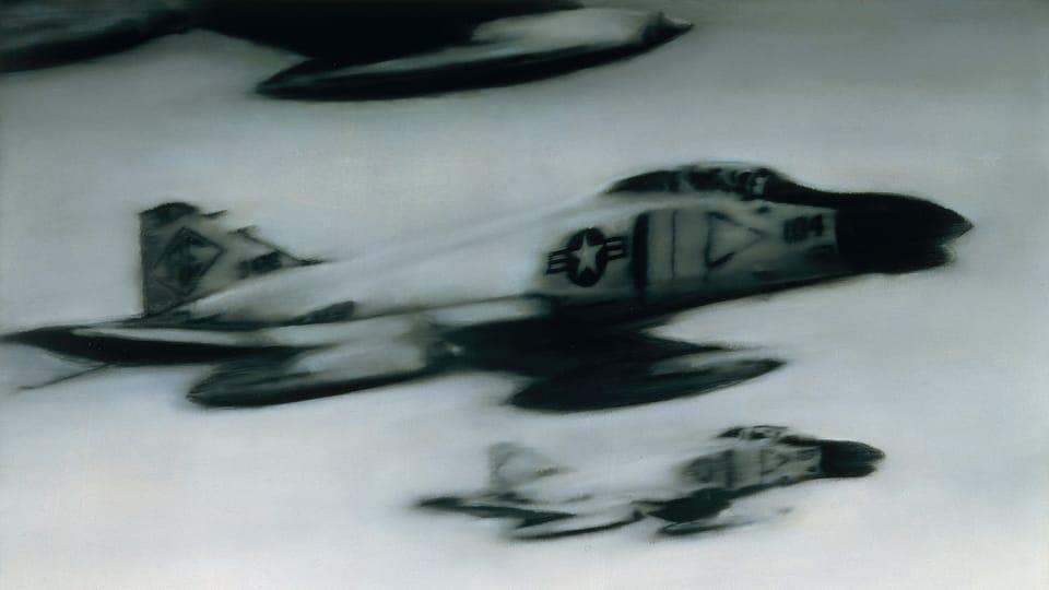 Gerhard Richter: Stíhací letouny Phantom,  foto: archiv Národní galerie v Praze