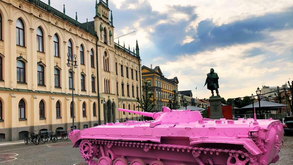 Růžový tank Davida Černého,  foto: archiv Českého centra Stockholm