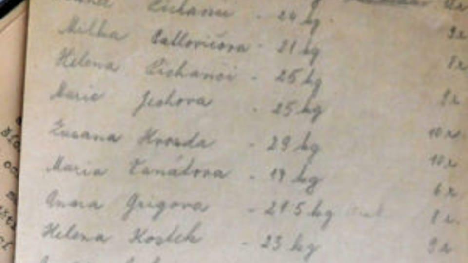 Seznam zachráněných dětí,  foto: archiv Post Bellum
