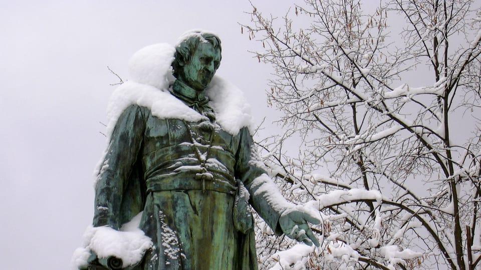 Socha J.W.Goetheho v Mariánských Lázních   Foto: Radio Prague International