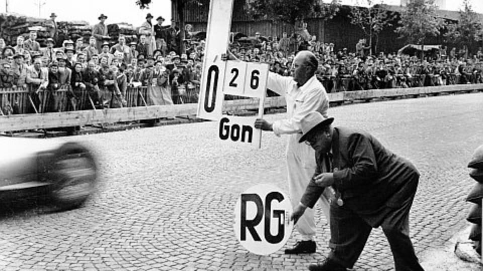 Na Velké ceně Švýcarska v roce 1954