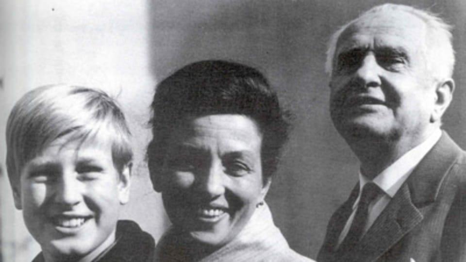 Dana Medřická s manželem a synem
