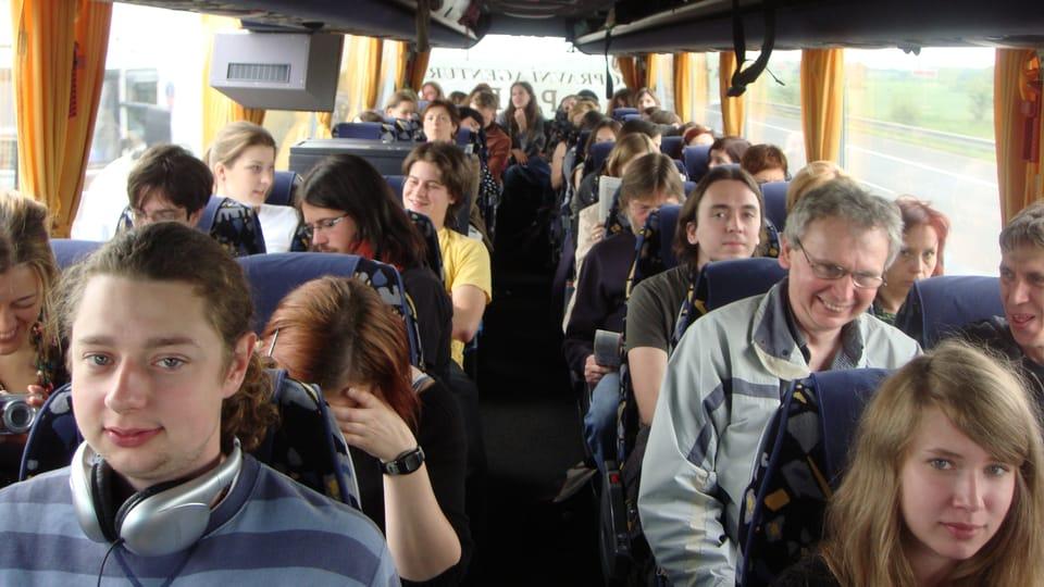 Fanoušci kapely Zrní na cestě do Berlína