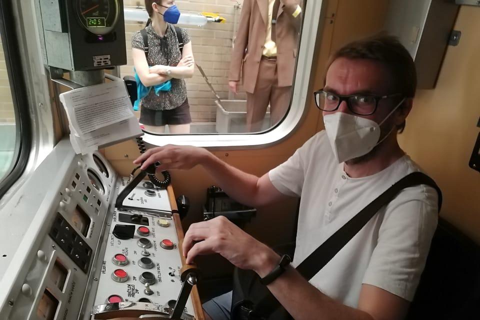 Jízda historickou soupravou metra   Foto: Štěpánka Budková,  Radio Prague International