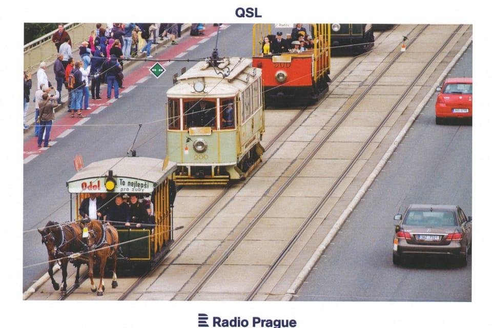 Slavnostní průvod historických tramvají,  foto: ČTK,  Vít Šimánek