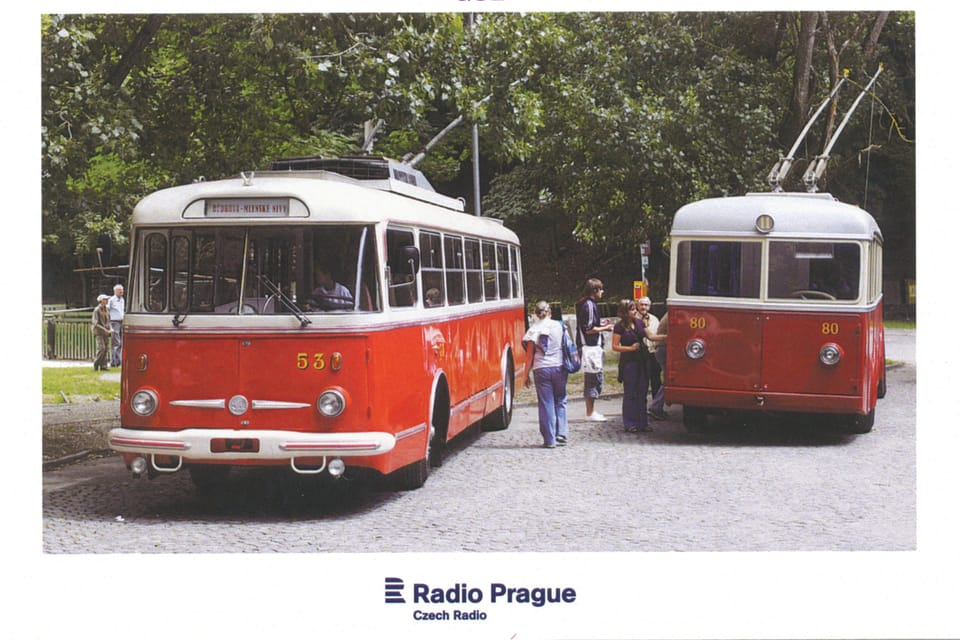 Trolejbus  (FBW Oerlikon) Škoda Tr,  60. léta,  foto: Marián Peiger,  ČTK